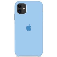 Чехол Silicone Case голубой для iPhone 11