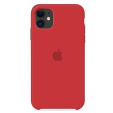 Чехол Silicone Case красный для iPhone 11
