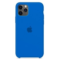 Силиконовый чехол синий для iPhone 11 Pro