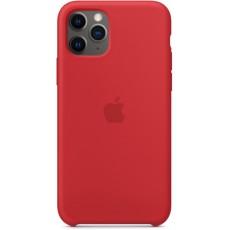 Чехол Silicone Case красный для iPhone 11 Pro