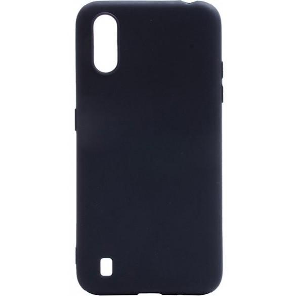 Чехол silicon cover для Samsung Galaxy A01 SM-A015F (черный)