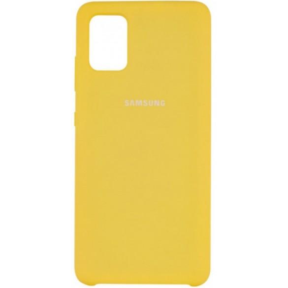 Силиконовый чехол Yellow для Samsung Galaxy A51