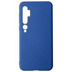 Силиконовый чехол синий для Xiaomi Mi Note 10