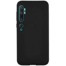 Силиконовый чехол черный для Xiaomi Mi Note 10