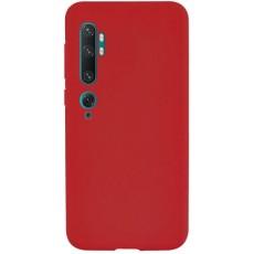 Силиконовый чехол красный для Xiaomi Mi Note 10