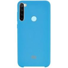 Чехол Silicone Cover для Xiaomi Redmi Note 8T синий