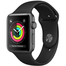 Apple Watch Series 3 38mm Space Gray Aluminum Case with Sport Band