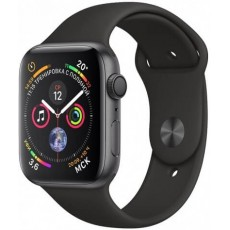 Apple Watch Series 4 GPS 44mm Aluminum Case with Sport Band Black (черный)