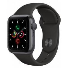 Apple Watch Series 5 40mm корпус из алюминия серый космос, спортивный ремешок черный