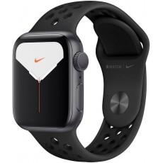 Apple Watch Nike Series 5 40mm корпус из алюминия серый космос, спортивный ремешок Nike черный