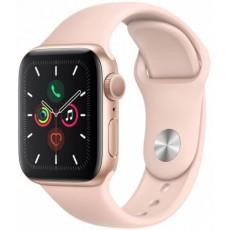Apple Watch Series 5 40mm корпус из алюминия розовое золото, спортивный ремешок розовый