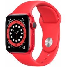 Умные часы Apple Watch Series 6 40mm корпус из алюминия красный, ремешок красный