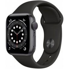 Часы Apple Watch Series 6 44mm корпус из алюминия серый космос, ремешок черный