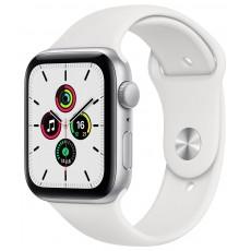 Умные часы Apple Watch SE 40mm корпус из алюминия серебристого цвета, ремешок серебряный